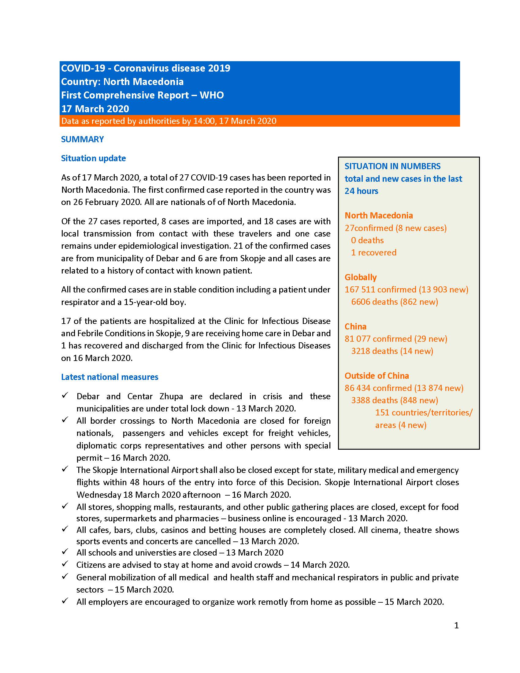 WHO Comprehensive report 17.03.2020