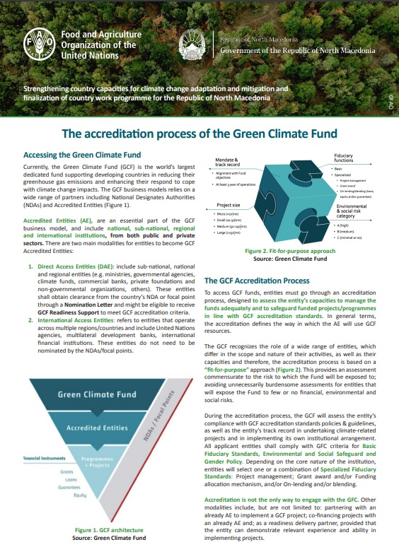The accreditation process of the Green Climate Fund