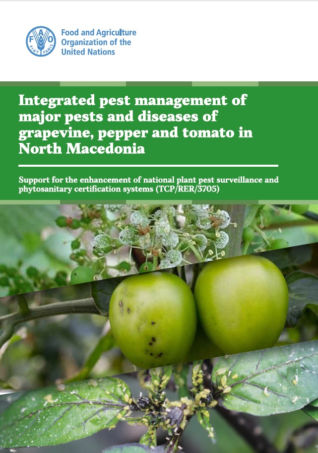 Integrated pest management of major pests and diseases of grapevine, pepper and tomato in North Macedonia
