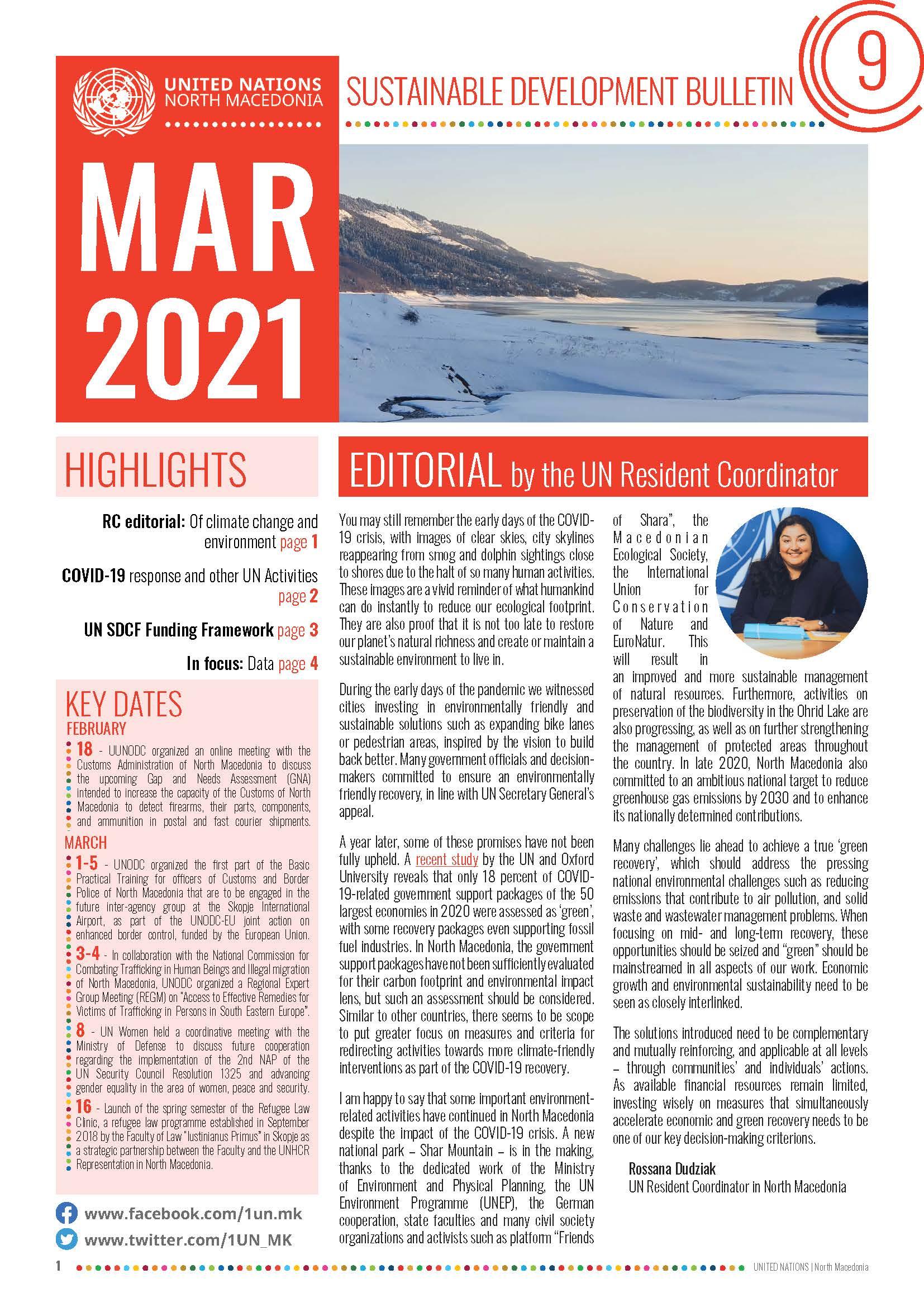 Sustainable Development Bulletin
