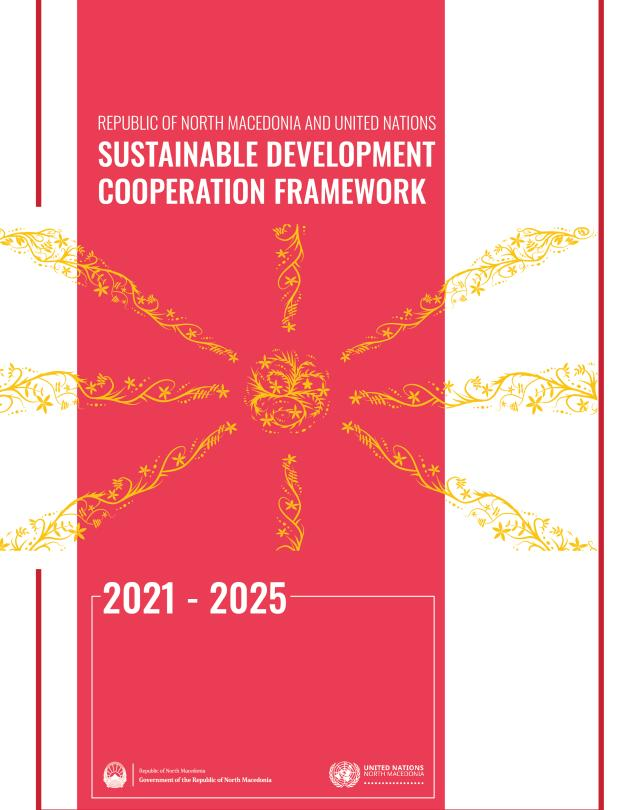 Front page of the UN SDCF 2021 - 2025