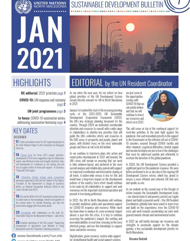 Front page bulletin January 2021