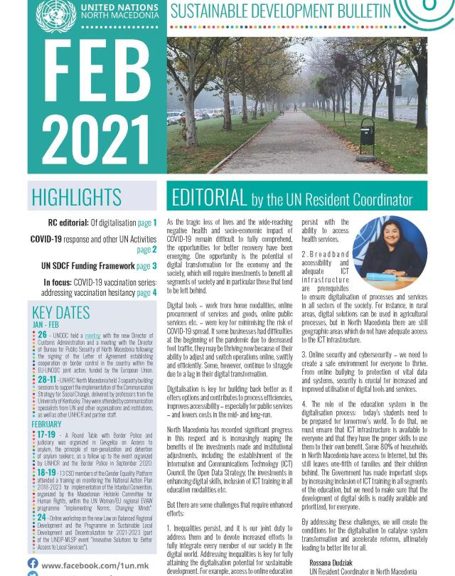 Front page February bulletin